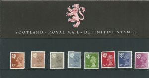 1984 Pack 6 Scotland Regional (Definitive Stamp Presentation Packs)